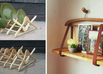 Нове життя старих дерев'яних вішалок
