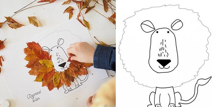 Творимо з дітьми: ідеї простих аплікацій із листя