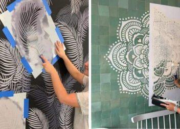 Як створити оригінальний візерунок-текстуру на стіні