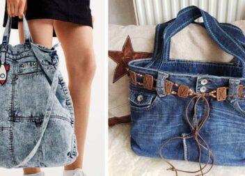 Шикарні жіночі сумки із непотрібного джинсового одягу