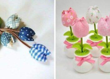 Тюльпани із тканини: красивий декор самотужки