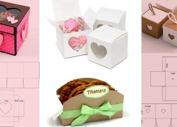 Робимо подарункові коробки самотужки. Шаблони