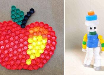 Творчість із пластикових кришечок для ПЕТ пляшок