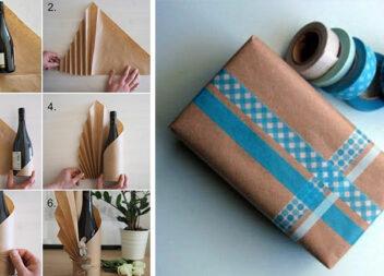 Перетворюємо звичайний пакувальний папір у красиві подарункові обгортки та пакети