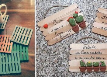 Домашній декор із дерев'яних шпателів або паличок від морозива