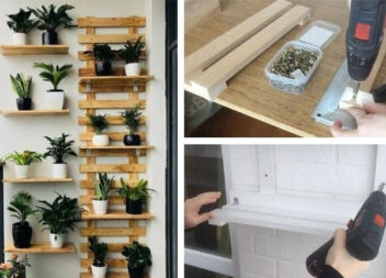 Чудова ідея на балкон: решітка з полицями для квітів