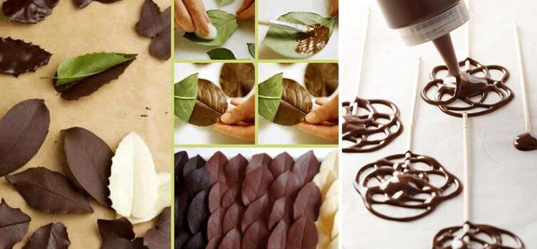 Їстівний декор із шоколаду: прикрашаємо десерти самотужки