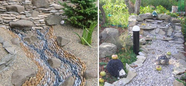 Цікава альтернатива ставку на ділянці біля будинку - сухий струмок