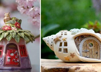 Будиночки для фей: чарівні керамічні свічники для декору дому