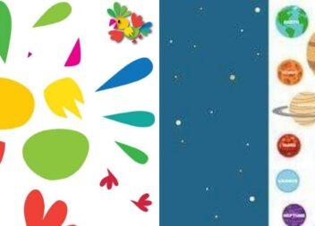 Дитяча творчість. Аплікації з кольорового паперу. Шаблони