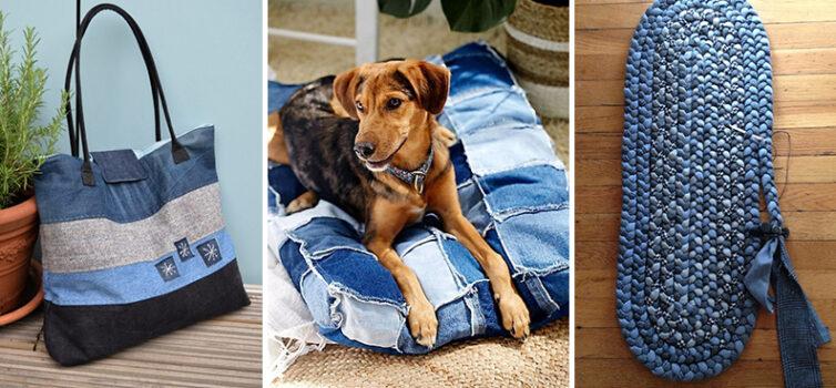 Цікаві речі для дому зі старих джинсових речей