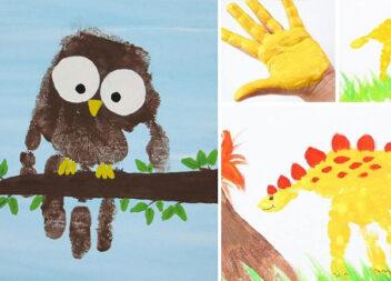 Фарба + долоні: чудові варіанти творчості руками