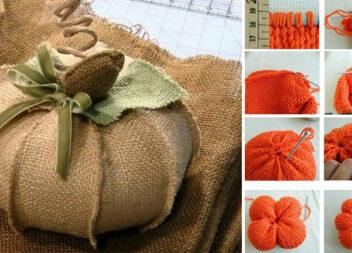 Виготовляємо гарбузи: чудові ідеї та шаблони для рукоділля