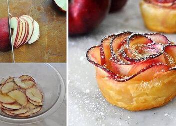 Смачні та оригінальні трояндочки із яблук. Рецепт