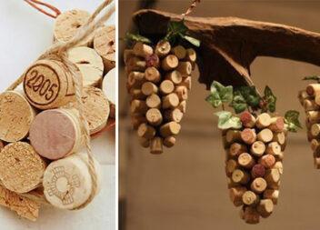 Незвичний красивий декор із корків від вина та сухих гілок