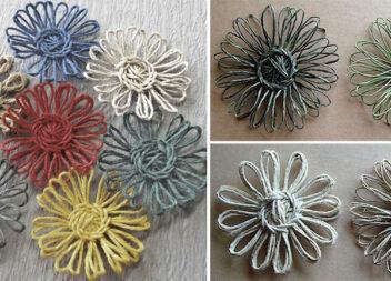 Створюємо квіти із пряжі та мотузки