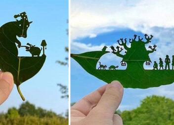 Витинанки на листочках