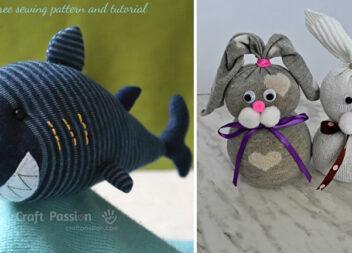 Чудові іграшки зі шкарпеток: 18 цікавих ідей