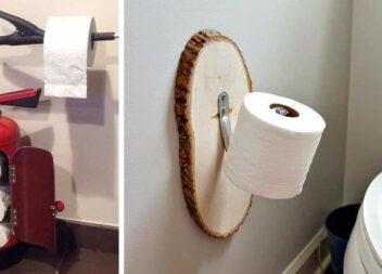 Цікаві рішення для розміщення туалетного паперу