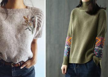 Перетворіть звичайний светр в дизайнерську річ за допомогою вишивки