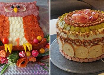 Як прикрасити закусочні торти, салати та готові страви. Ідеї для святкового столу