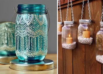Перетворюємо скляні банки в красивий декор