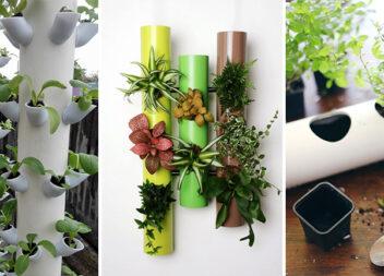 Горщики для рослин із ПВХ-труб