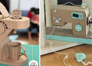 12 шикарних картонних речей для дитячих забав