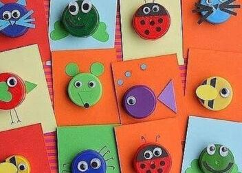 Цікаві вироби із пластикових кришечок для дитячої творчості