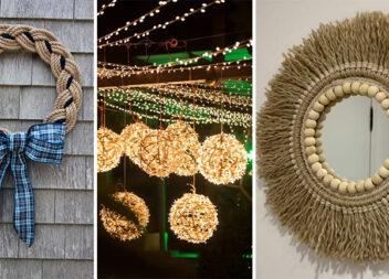 Варіанти використання мотузки різної товщини у домашньому декорі