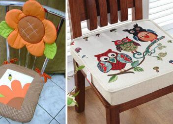 15 цікавих подушок для стільців. Ідеї для рукоділля